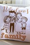 Подушка декоративная с Вашим именем My family