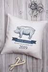 Подушка декоративная с Вашим именем Новогодняя ферма