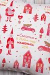 Подушка декоративная с Вашим именем Новогодние игрушки