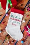 Рождественский носок с Вашим текстом От Деда Мороза