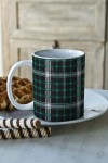 Кружка Зеленая шотландка