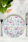 Тарелка декоративная Фламинго