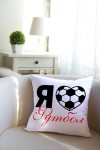 Подушка декоративная с Вашим именем I love football