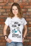 Футболка женская с вашим текстом Bicycle