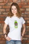 Футболка женская с вашим текстом Царевна лягушка