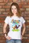 Футболка женская с вашим текстом Пасхальные цыплята