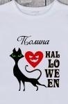 Футболка женская с вашим текстом Черная кошка