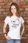 Футболка женская с вашим текстом With love