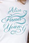 Футболка женская с вашим текстом Forever young