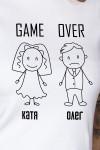 Футболка женская с вашим текстом Game Over