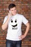 Футболка мужская с вашим текстом Boo!