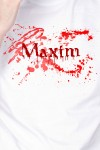 Футболка мужская с вашим текстом Кровавая футболка