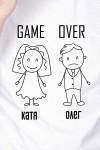 Футболка мужская с вашим текстом Game Over