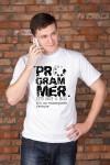 Футболка мужская с вашим текстом Programmer