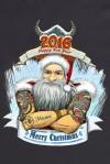 Футболка мужская с вашим текстом Брутальный Дед Мороз