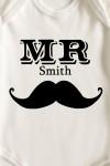 Боди для малыша с вашим текстом Mr & Mrs Smith