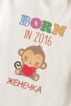 Боди для малыша с вашим текстом Born in 2016