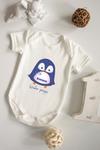 Боди для малыша с вашим текстом Малыш пингвин
