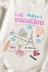 Боди для малыша с вашим текстом Путешествие в европу