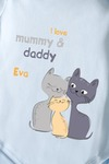 Боди для малыша с вашим текстом Семья котиков