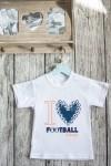 Футболка детская с вашим текстом Любитель Футбола