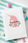 Ежедневник с Вашим текстом Цветочный единорог