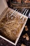 Набор бокалов подарочный с Ваши именем Винтажная мышь