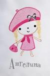 Наволочка декоративная с именной вышивкой Девочка