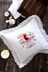 Наволочка декоративная с именной вышивкой Ажурный олень