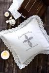 Наволочка декоративная с именной вышивкой Ажурный крест