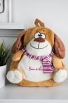 Рюкзак детский с именной вышивкой Собачка с шарфиком