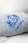 Плед с именной вышивкой Лев