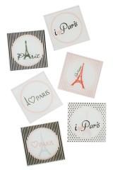 Набор подставок под чашку Париж
