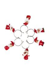 Набор новогодних подвесок для бокала Дедушки Морозы