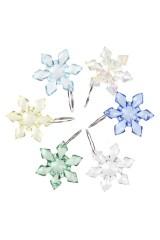 Набор новогодних подвесок для бокала Снежинки