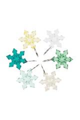 Набор новогодних подвесок для бокала Зимние снежинки