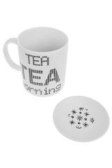 Кружка с крышкой Утренний чай