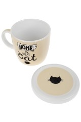 Кружка с крышкой Домашний кот