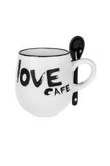 Кружка с ложкой Кофе