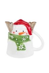 Кружка новогодняя Счастливый снеговик