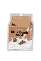 Маска для лица тканевая G9SKIN MILK BOMB MASK-Chocolate