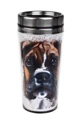 Термокружка с крышкой Акварельный пес
