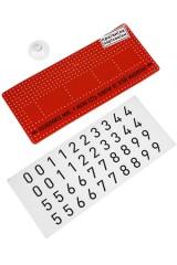 Карточка визитная Правила парковки - красный