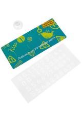 Карточка визитная Правила парковки - бирюзовый