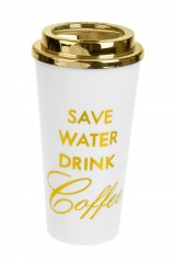 Термокружка Береги воду - пей кофе