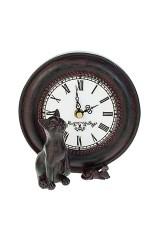 Часы настольные Киса с мышкой