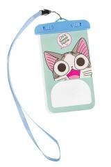 Чехол для телефона водонепроницаемый Улыбчивый котик