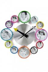 Часы настенные Цветные фоторамки