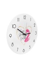 Часы настенные Розовый фламинго