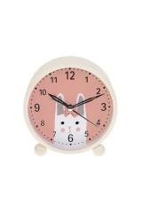 Часы настольные Зайка с бантиком
